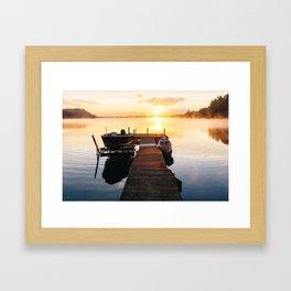 Sunrise at the Cottage Framed Art Print