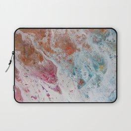 WHITE WASH   Fluid abstract art by Natalie Burnett Art Laptop Sleeve