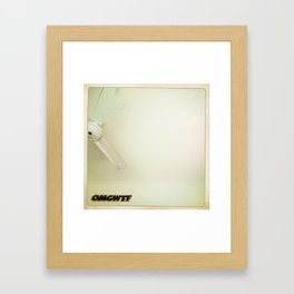 OMGWTF Framed Art Print