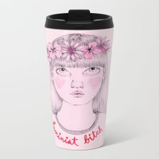 Floral Feminist Bitch Metal Travel Mug