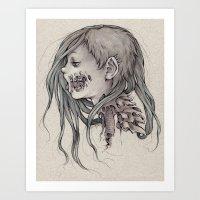gore Art Prints featuring Gore Girl by Savannah Horrocks