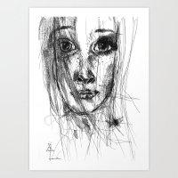 leah flores Art Prints featuring LEAH by EDEN