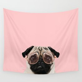 Intellectual Pug Wall Tapestry