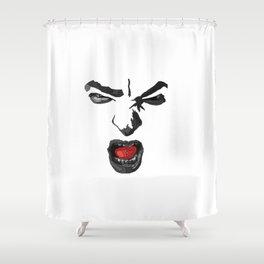 Plutchik Series : Anger Shower Curtain