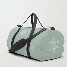 Snow Flakes pattern Green #homedecor #nurserydecor Duffle Bag