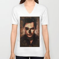 dexter V-neck T-shirts featuring Dexter by Sirenphotos