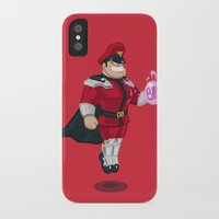 street fighter iPhone & iPod Cases featuring Street Fighter - M.Bison by Andre Horton