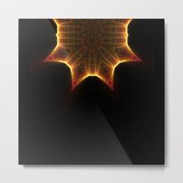 Neck Brace Fractal 2 Metal Print
