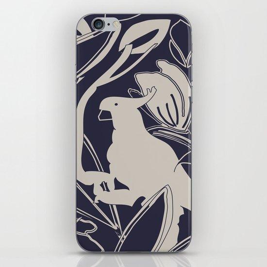 Cockatoo Evening Blue iPhone & iPod Skin