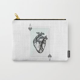 Ace Of Hearts - Mint Carry-All Pouch
