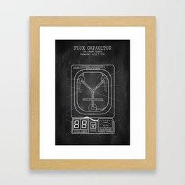 Flux capacitor chalkboard Framed Art Print
