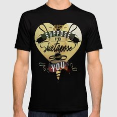 Juxtapozed with you Mens Fitted Tee Black MEDIUM