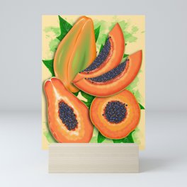 Papaya Party Mini Art Print