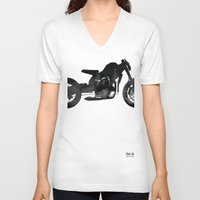 cafe racer V-neck T-shirts featuring cafe racer bike  by Daniele Faro