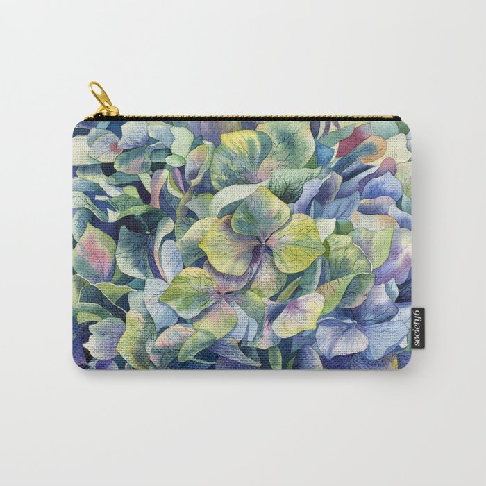"""Forest hydrangea"" Carry-All Pouch"