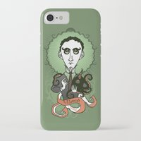 lovecraft iPhone & iPod Cases featuring Lovecraft Holy Writer by roberto lanznaster