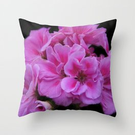 flowers of spring on black -34- Throw Pillow
