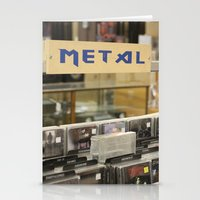 metal Stationery Cards featuring Metal by Bingz