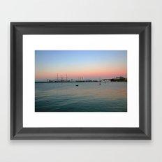 Bay area sunset  Framed Art Print