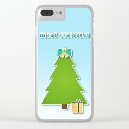 Christmas motif No 3 Clear iPhone Case