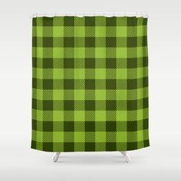 Buffalo Plaid: Green Shower Curtain