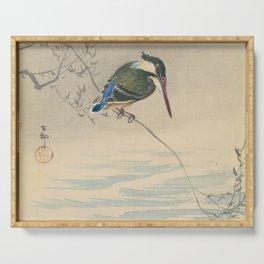 Kingfisher - Ohara Koson (ca. 1920) Serving Tray