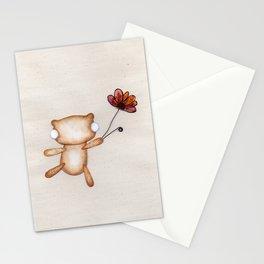 Loves Me, Loves Me Not, Loves Me! - Zombie Bear Stationery Cards