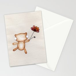 Loves Me, Loves Me Not, Loves Me! - Zombie Bear Stationery Cards
