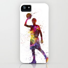 young man basketball player iPhone Case