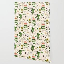 Pesto. Illustrated Recipe. Wallpaper