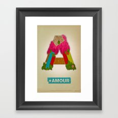 + Amour Framed Art Print