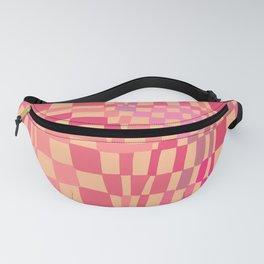 Pink/orange Checkerboard  Fanny Pack