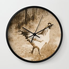 Rustic Country Rooster Modern Country Kitchen Farmhouse Art A572 Wall Clock