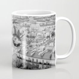 Gargoyles of Paris. Aerial view of Paris from the top of Sacré-Cœur Basilica. Coffee Mug