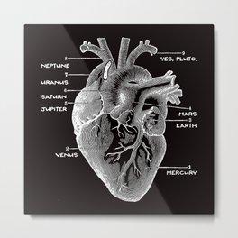 Solar Vascular System Metal Print
