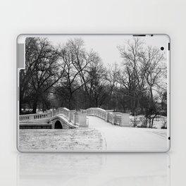 Winter Solitude - St. Louis Snowy Bridge Laptop & iPad Skin