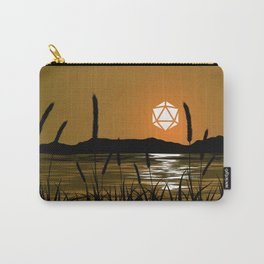 Marshland Sunset D20 Dice Sun Tabletop RPG Landscapes Carry-All Pouch
