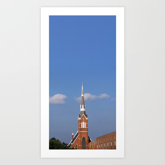 The Spires of St. Augie's Art Print