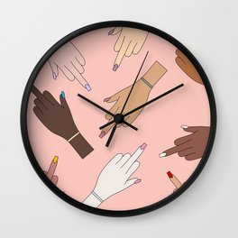 Worldwide Babes Wall Clock