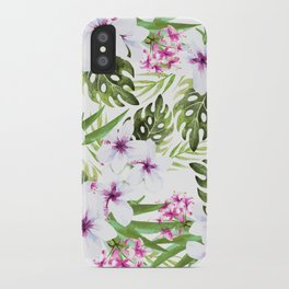 Tropical pattern iPhone Case