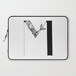 Mermaid Alphabet - M Laptop Sleeve
