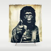 ape Shower Curtains featuring Vintage Ape * Go Ape by Freak Shop | Freak Products