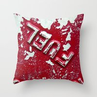 pocket fuel Throw Pillows featuring Fuel by AmandaMuses