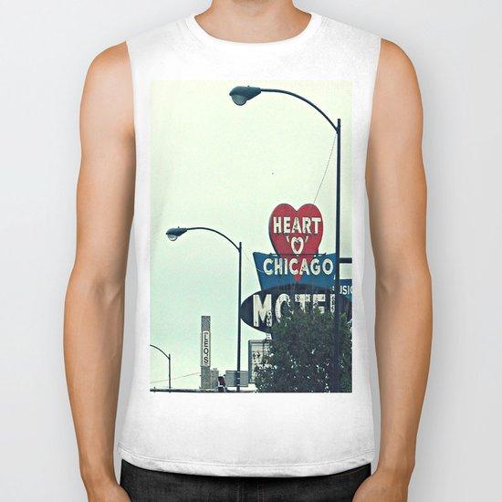 Heart 'O' Chicago Motel (Day) ~ vintage neon sign Biker Tank