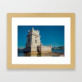 Belém Tower, Lisbon, jour nuit Framed Art Print