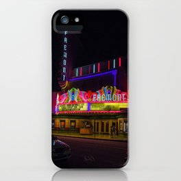 Night Lights Fremont Theater, San Luis Obispo, California iPhone Case