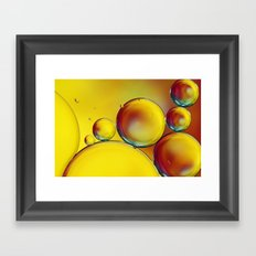 Bubble Drops III Framed Art Print