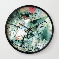 hummingbird Wall Clocks featuring Hummingbird by RIZA PEKER