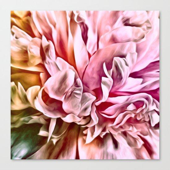 Painted Peony Warm Canvas Print