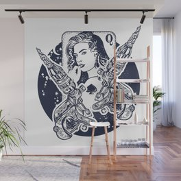 Queen playing card Wall Mural